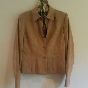 Jacket, Shaped Shirt-Style, Talbot's, Lt.Brn, Sz 6